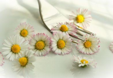 Kwiaty na talerzu, zdrowo i smacznie!